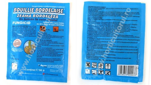 "Fig. 1  Zeama bordeleza preparata ""Bouille Bordelaise"" produs de Cerexagri B.V. FRANCE"