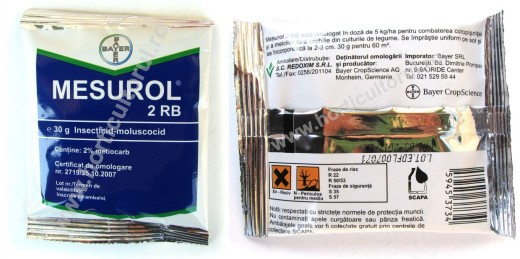 "MESUROL 2 RB (Moluscocid ""impotriva melcilor"") si (Insecticid ""impotriva coropisnitei"")"